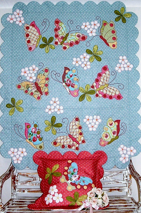 Butterfly Bliss quilt as you go pattern