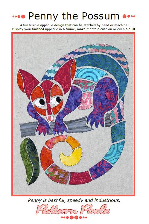 Penny Possum Print + Stitch