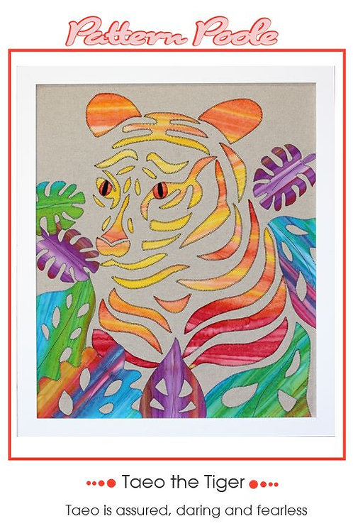 Taeo the Tiger Applique Pattern