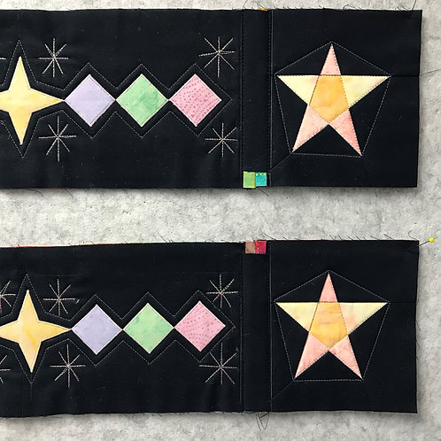 Twilight Dreaming Block Corner Star Blocks and Borders