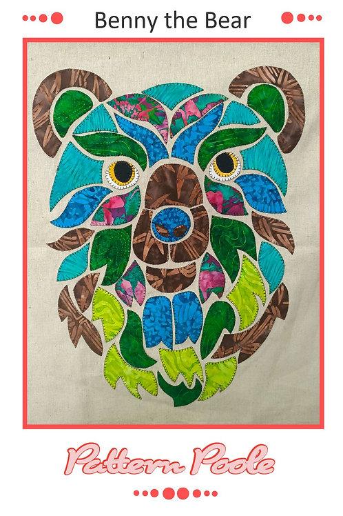 3 x Benny the Bear Applique Patterns