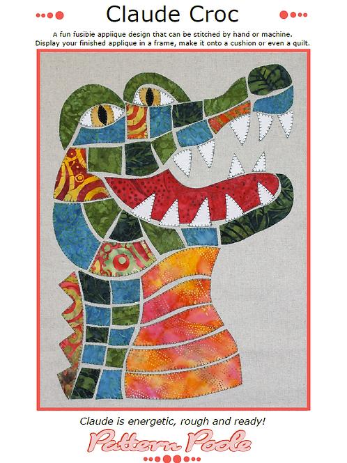 Claude Croc Print + Stitch