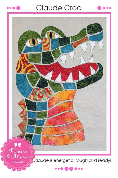 3 x Claude Croc Applique Pattern