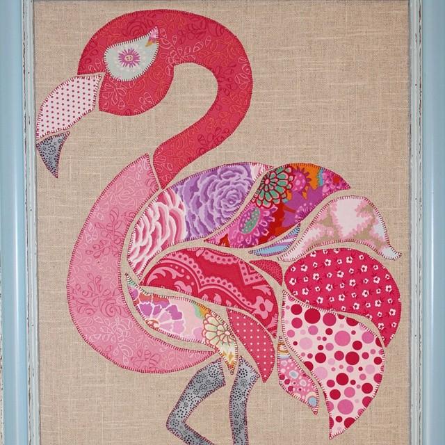 Fi Fi Flamingo pattern by Monica and Alaura Design #appliqué #monicapooledesigns