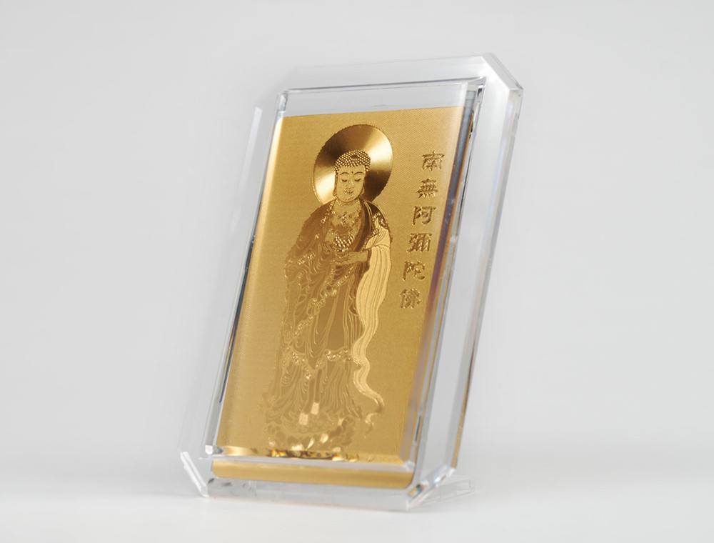 Gold foil embossed idol | Buddha cards (amulet) | Lucky Cash / Gold Cash