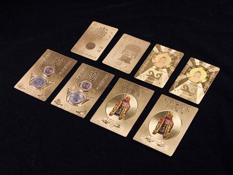 金箔エンボス加工神仏像 | 仏様カード | 銭母金鈔(金運を招く金の紙幣)