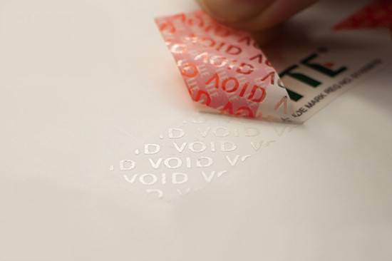 Transfer Tamper Evident Sticker
