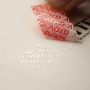 Partial Transfer Tamper Evident Seal Sticker