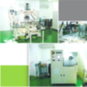 plate joint machine andevaporation machine in clean room