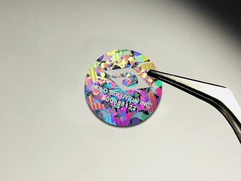 透かし彫りレーザー偽造防止ラベル | CL-09