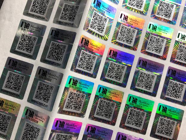 QR Code security label | barcode label | verification label