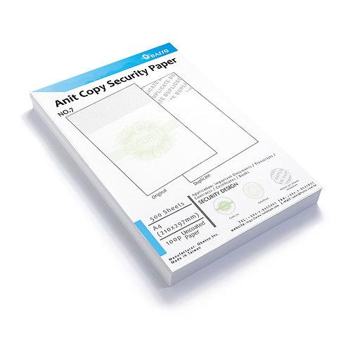 Anti Copy Paper, Security A4 Copy Paper, Contract Paper, No.7, 500 sheet