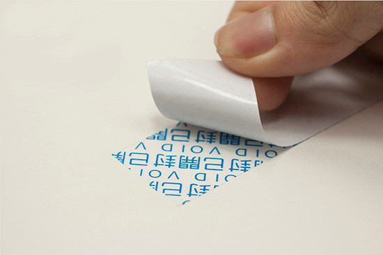 Full Transfer Tamper Evident Seal Sticker