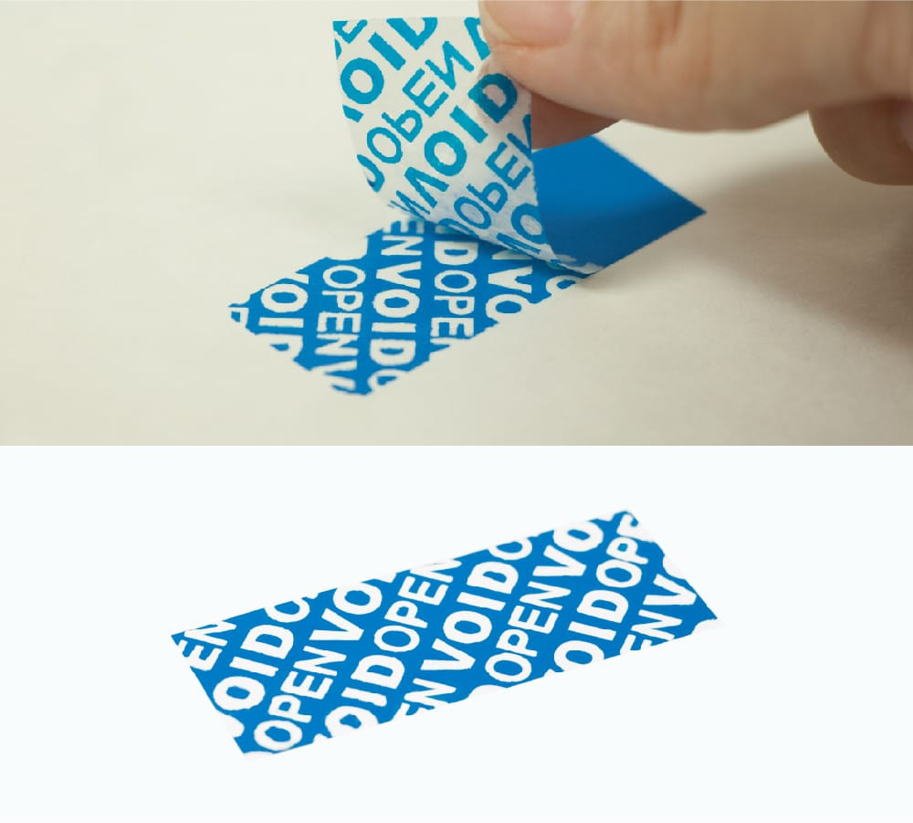 Partial transfer tamper evident sticker