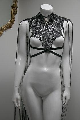 Black Fringe Cloak Anti Bra