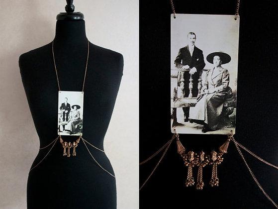 Brass Family Portrait Body Chain