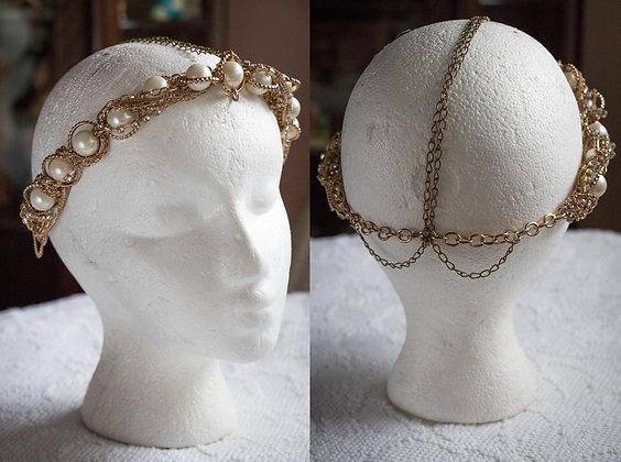 Gold Pearl Hot Mess Head Chain
