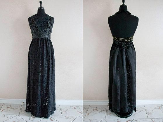 Black Lace Raven Gown