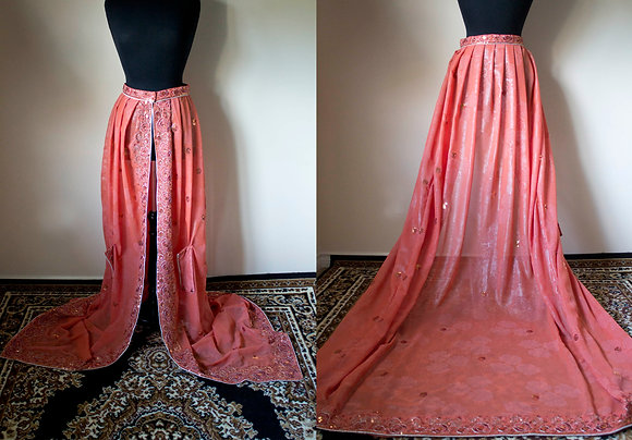 Coral Sequin Overskirt