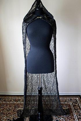 Black&Gold Sequin Cloak