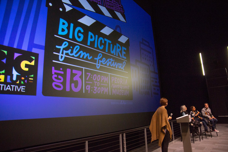 Films were shown on the big screen at the Peoria Riverfront Museum