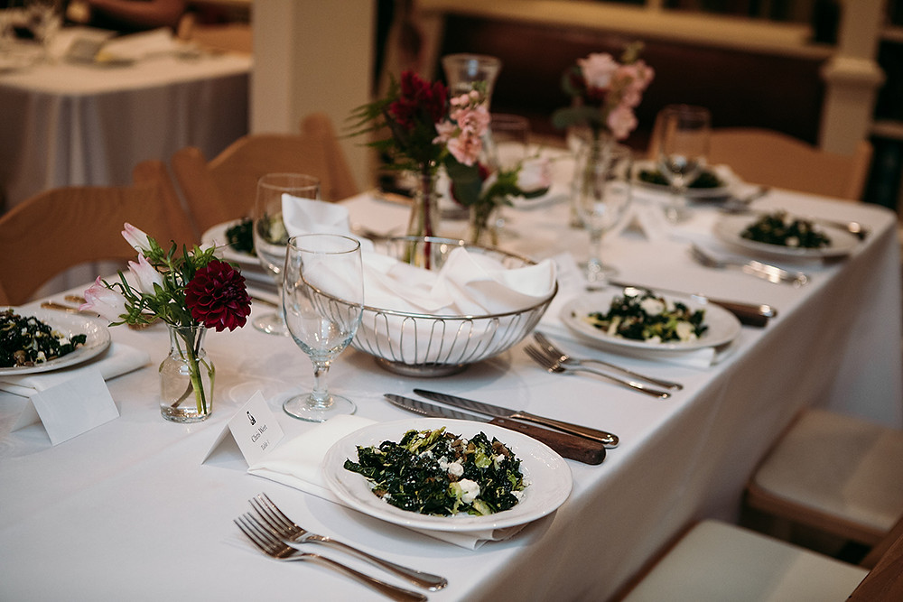 Wedding Catering, Plated Salad, Providence, Easy Entertaining
