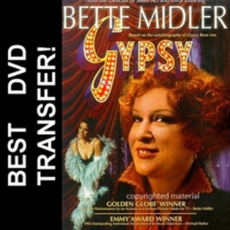 Gypsy DVD 1993 For Sale Bette Midler