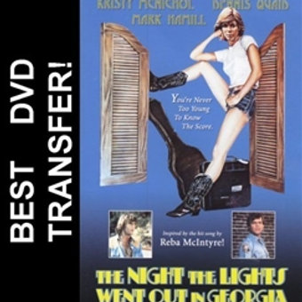 The Night The Lights Went Out In Georgia DVD 1981 Kristy McNicol Dennis