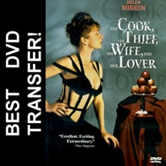 The Cook, The Thief, His Wife, And Her Lover DVD 1989
