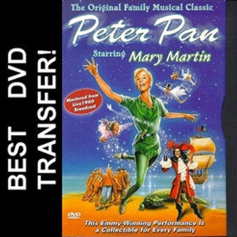 Peter Pan DVD 1960 For Sale Mary Martin TV Musical