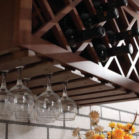 Wall wine rack.