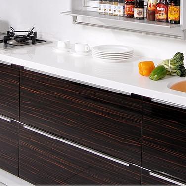 European kitchen cabinets.