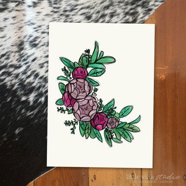 Roses Wreath Print