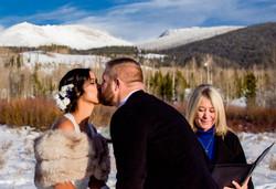 Winter Wedding at Devil's Thumb, CO