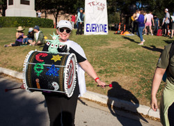 Political Drums Protester