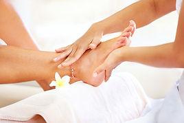 Fuß-Reflexionen-Massage