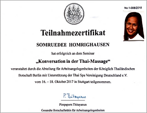 Konversation Zertifikat Dee Homrighausen
