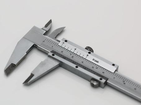 Calibração de Paquímetro.