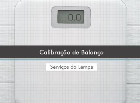 Calibração de balanças.