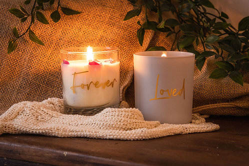 LP 'FOREVER' & 'LOVED' Soy Wax Candles