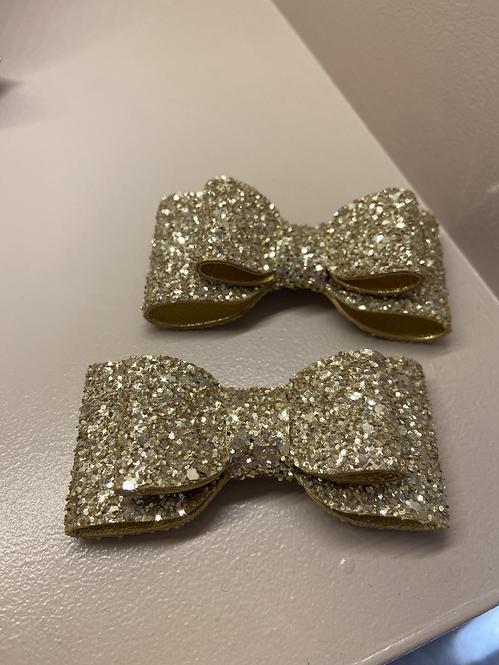 Gold Glitter Detachable Clips