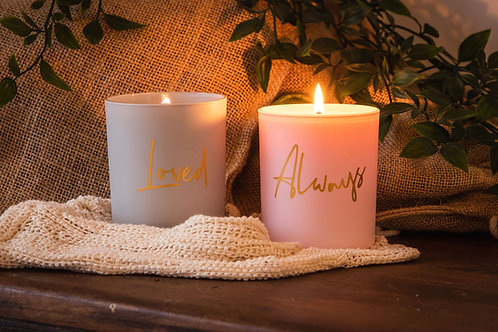 LP 'LOVED' & 'ALWAYS' Soy Wax Candles