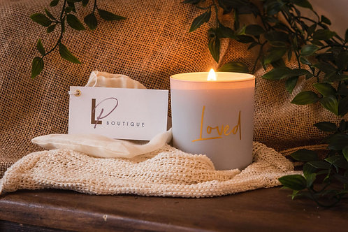 LP 'LOVED' Soy Wax Candle