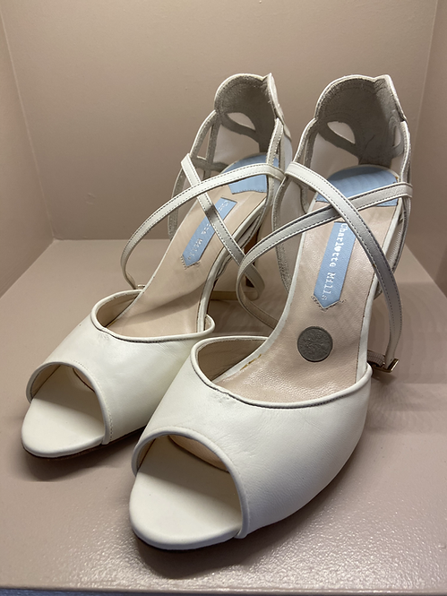Charlotte Mills Mid Heel Open Toe Shoe