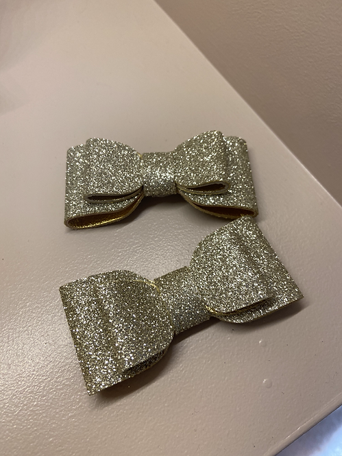 Gold Shimmer Detachable Clips