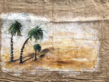 Palmeras en el desierto