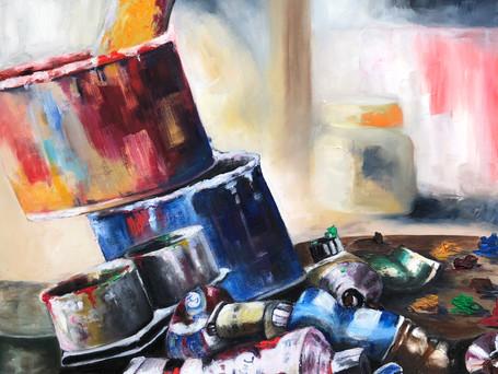 Utensilios de pintura  64 x 82