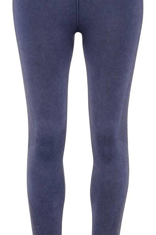 Blue denim effect leggings