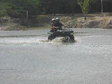 quad dans la lagune somone