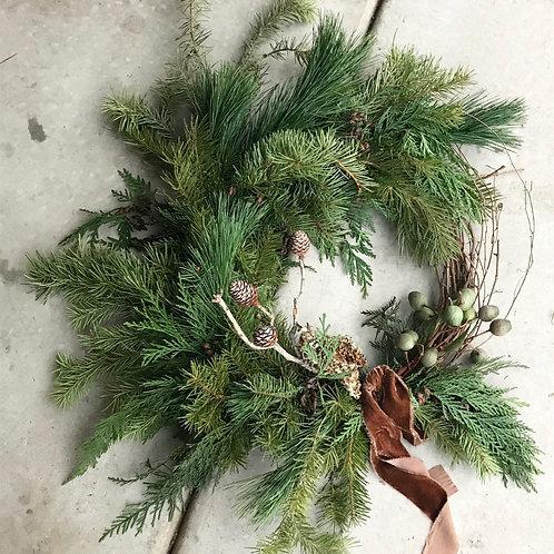 Medium Asymmetrical Holiday Wreath